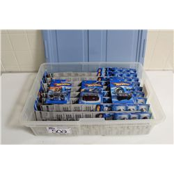 HOT WHEELS RUBBERMAID CONTAINING 90+ MINT ON BOARD 2005 SINGLES
