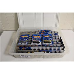 HOT WHEELS RUBBERMAID CONTAINING 90+ MINT ON BOARD CAMARO'S