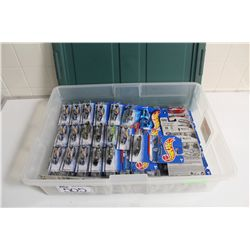 HOT WHEELS RUBBERMAID CONTAINING 50+ MINT ON BOARD 1963 & '65 CORVETTE'S