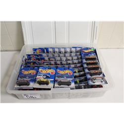 HOT WHEELS RUBBERMAID CONTAINING 100+ MINT ON BOARD DODGE VIPERS, ETC.
