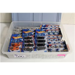 HOT WHEELS RUBBERMAID CONTAINING 80+ MINT ON BOARD 2004 FIRST EDITIONS