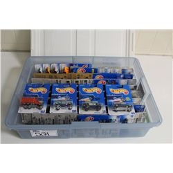 HOT WHEELS RUBBERMAID CONTAINING  MINT ON BOARD RARE SETS, OLDERS SINGLES AND VARIATIONS
