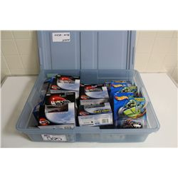 HOT WHEELS RUBBERMAID CONTAINING MINT ON BOARD RARER MIX