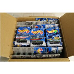 HOT WHEELS FACTORY BOX CONTAINING 59 MINT ON BOARD AT-A-TUDES