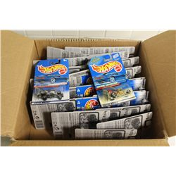 HOT WHEELS FACTORY BOX CONTAINING 36 MINT ON BOARD BABY BOOMER'S