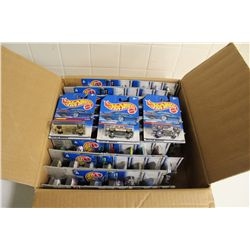 HOT WHEELS FACTORY BOX CONTAINING MINT ON BOARD SETS OF 4