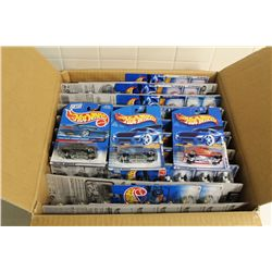 HOT WHEELS FACTORY BOX CONTAINING 81 MINT ON BOARD '36, '40-'41 FORDS