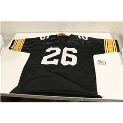 PITTSBURGH STEELER, ROD WOODSON AUTOGRAPHED JERSEY WITH COA STICKER