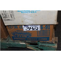 CASE OF 1991 TOPPS STADIUM CLUB HOCKEY CONTAINING 12 SEALED BOXES