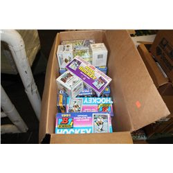 BOX  OF ASSORTED BOWMAN, OPC, TOPPS, UD, SEALED HOCKEY CARDS