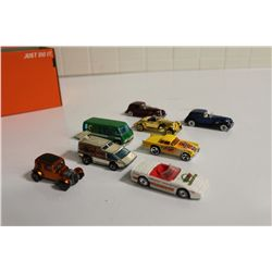 8 VINTAGE 1960'S-80'S HOT WHEELS INCLUDING 1968 CLASSIC 32 FORD VICKY, 1976 GMC MOTOR HOME &