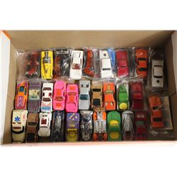 SHOE BOX OF 30 ASSORTED VINTAGE HOT WHEELS