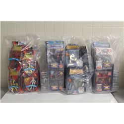 4 BAGS OF ASSORTED NEW IN BOX TOYS, ACTION FIGRUES ETC.