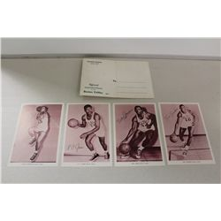 1960'S BOSTON CELTICS 4 ORIGINAL PHOTOS WITH MAILER