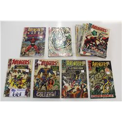 AVENGERS #24-93 (1966-71) LARGE LOT OF 22 SILVER & EARLY BRONZE ISSUES. LOWER GRADE AVERAGE