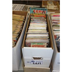 LONG BOX OF ASSORTED COMIC TITLES, SOME 12 CENT COVERS