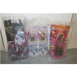 3 BAGS OF ASSORTED NEW IN BOX TOYS, ACTION FIGRUES ETC.