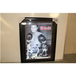 "MUHAMMED ALI FRAMED PRINT ""THE CHAMPION"""