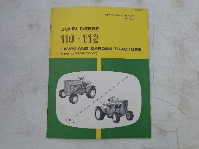 image 1 : 1967 john deere 110 & 112 operators manual