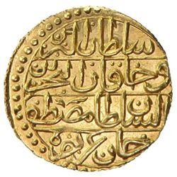 TUNIS: Mustafa III, 1757-1774, AV sultani (2.59g), Tunis, AH1186