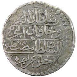 TUNIS: Mustafa III, 1757-1774, AR piastre, Tunis, AH1182