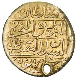 TUNIS: Mustafa III, 1757-1774, AV 1/2 sultani (1.14g), Tunis, AH1185