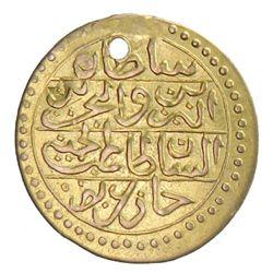TUNIS: Abdul Hamid I, 1774-1789, AV 1/2 sultani (0.83g)
