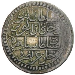 TUNIS: Selim III, 1787-1807, AR piastre, Tunis, AH1206