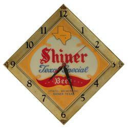 "Shiner Beer ""Texas Special"" Advertising Clock"