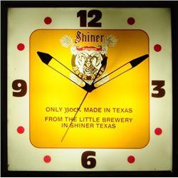 Shiner Bock Beer Advertising Clock