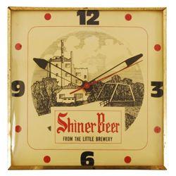 Shiner Beer Brewery Scene Advertising Clock