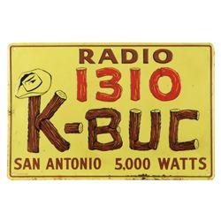K-BUC San Antonio Texas Radio Station Sign