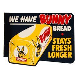 Bunny Bread Porcelain Advertising Flange Sign