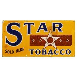 Star Tobacco Porcelain Sign