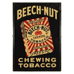 Beech-Nut Tobacco Tin Advertising Sign
