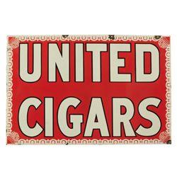 United Cigars Porcelain Sign
