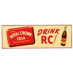 Royal Crown Cola Drink RC! Tin Advertising Sign