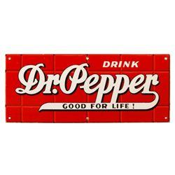 Dr. Pepper Red Brick Porcelain Sign