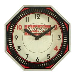 Dr. Pepper Neon Clock