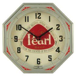 Pearl Beer Neon Advertising Clock
