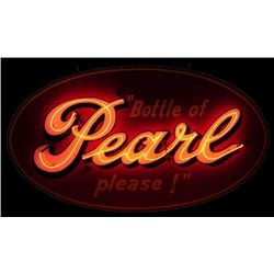"Pearl Beer Neon Sign ""Bottle of Pearl Please!"""