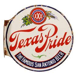 Texas Pride Beer Pre-pro Porcelain Flange Sign
