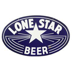 Lone Star Beer Porcelain Lightning Bolt Sign