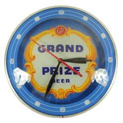Grand Prize Beer Blue Double Bubble Clock