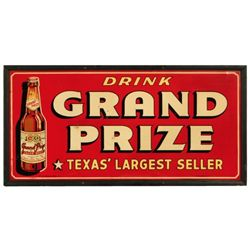 Grand Prize Beer Advertising Sign