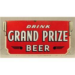 Grand Prize Beer Porcelain Sign