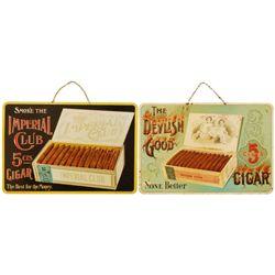 Devilsh Good & Imperial Cigars Advertising Signs