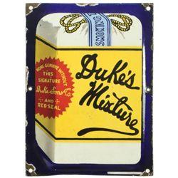 Duke's Mixture Tobacco Porcelain Sign