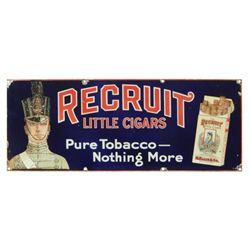Recruit Cigars Porcelain Sign