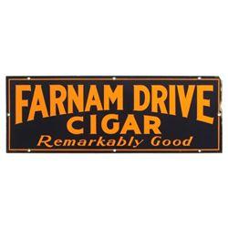 Farnam Drive Cigars Porcelain Advertising Sign